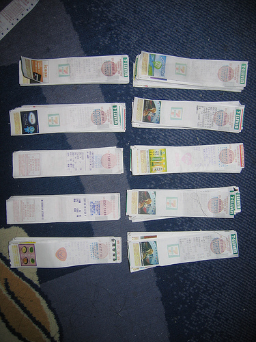 Receipts Sorted by Number