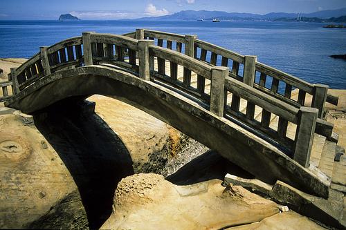 Bridge in Yehliu Geopark