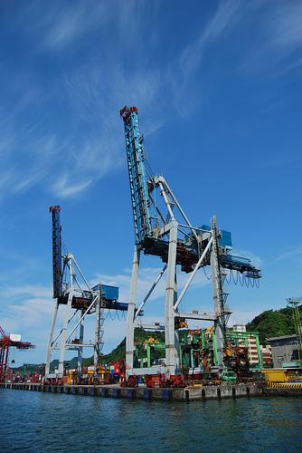 Keelung Harbor Cranes