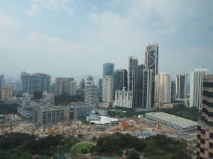 Kuala Lumpur from the Traders Hotel