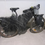 My bike wrapped up in plastic as per the Air Asia policy.