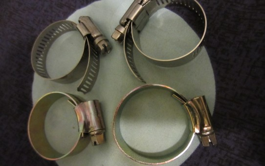 Hose clamps for my assorted water bottle cages.