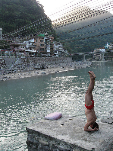 Headstand Man in Wulai