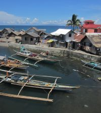 River Estuary and Village on the Road to Calbayog