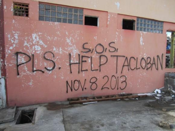 SOS Sign in Tacloban