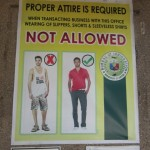 The immigration office in Cebu is very friendly, but they do ask that you dress properly when you visit