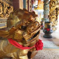 A Guardian Lion at a Temple on Route 106 Between Taipei and Pingxi